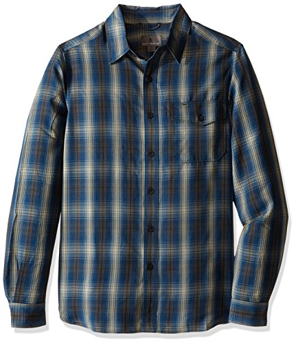 Royal Robbins Men's Pine Crest Plaid Long Sleeve Shirt,PHOENIX BLUE,Medium