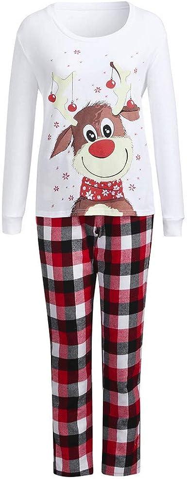 JUNMAONO Pijamas Navidad para Familias para Mamá Papá Niños ...