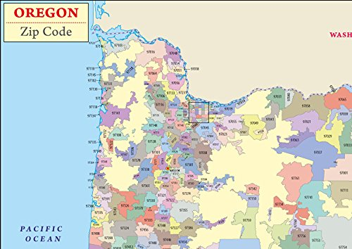 Amazon.com : Oregon Zip Code Map - Laminated (36