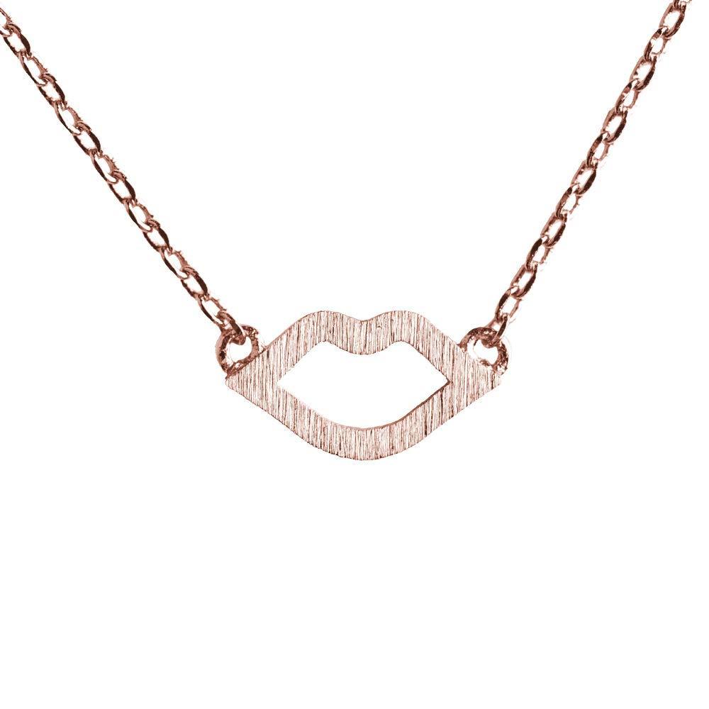 097755d3b8a5 LuckyLy – Collares Clásicos y Delicados para Mujer – Collar Larissa – Dije  de Beso –
