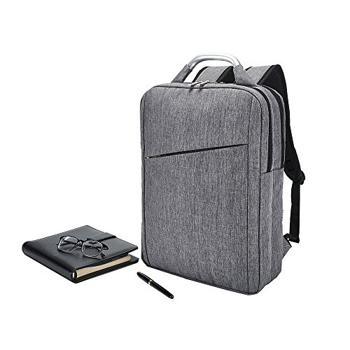 Business Laptop Backpack, Slim Durable College School Backpack for Men and Women, Lightweight Travel Computer Bag Fits under 15.6 inch Laptop and Notebook (Gray) by Covax (Image #6)