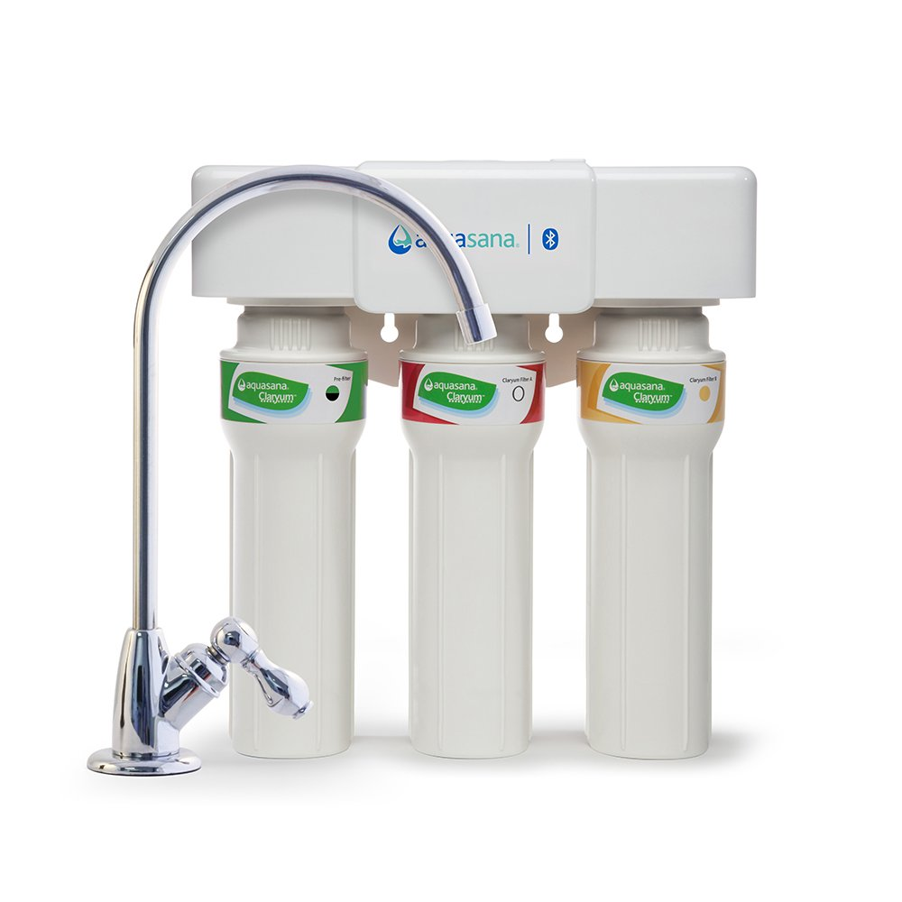 Aquasana 3-Stage Max Flow Under Sink Water Filter System with Chrome Faucet
