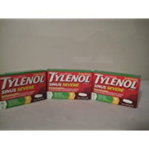 TYLENOL Sinus Congestion & Pain, Severe Caplets Daytime Non-Drowsy 24 EA (Pack of 3)