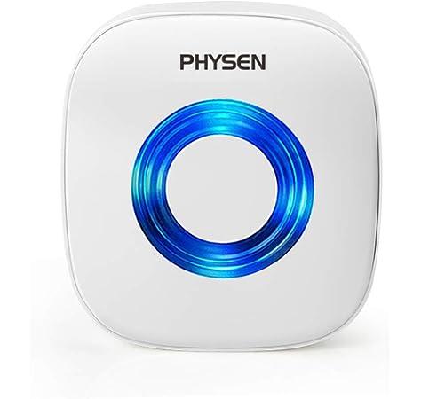 timbre receptor PHYSEN CW enchufe en 52/melod/ías de timbre inal/ámbrico timbre de puerta con 4/niveles de volumen ajustable color blanco