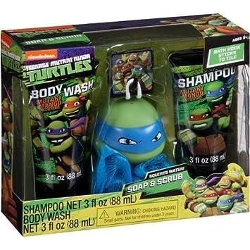 Nickelodeon Teenage Mutant Ninja Turtles 4 pc Bath Set. Amazon com  Nickelodeon Teenage Mutant Ninja Turtles 4 pc Bath Set