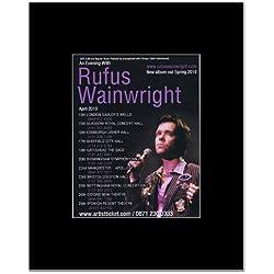 RUFUS WAINWRIGHT - UK Tour 2010 Mini Poster - 14x11cm