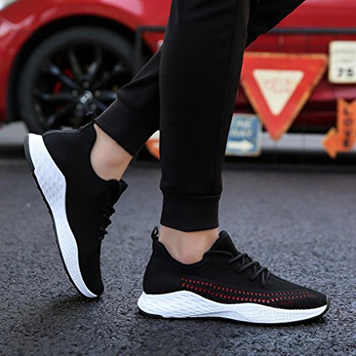 Workout Dance Walking Sports Trainers Flops VEMOW Sneakers for Flat Wedge Espadrilles Flip up Heel Gym Lace Mesh Outdoor Air Flats Red Hiking Shoes Thongs Men Shoes Running 6wvT1Uq