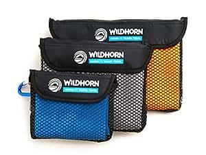 Microlite Microfiber Quick Dry Travel / Camping Towel - Large, Medium and Small Bundle