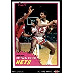 1981 Topps # 77 E Darwin Cook New Jersey Nets (Basketball Card) Deans Cards.