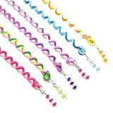 SHOBDW Girls Headbands, 6 PCS/Set Kids Baby Curler Hair Braid Sticker Compiled Tool Decor Twist Braid Headdress Accessories Gifts (Multicolour)