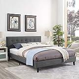 LexMod MOD-5424-GRY Linnea Full Bed, Gray