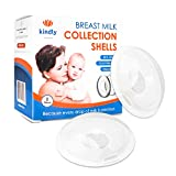 Breast Shells - Nursing Cups - Save Leaks of Breastmilk - Milk Saver - Collect Breastmilk and Protect Sore Nipples - Soft & Comfortable Silicone - Safe, Reusable and Easy to Clean, Set of 2