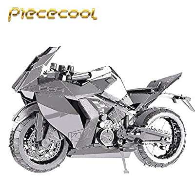 Piececool Motorcycle I P046-S Model 3D Metal Puzzle DIY Jigsaws Laser Cut Puzzle Toys: Toys & Games