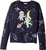 Dolce & Gabbana Kids Girl's Spaceman T-Shirt (Big Kids) Blue Print T-Shirt