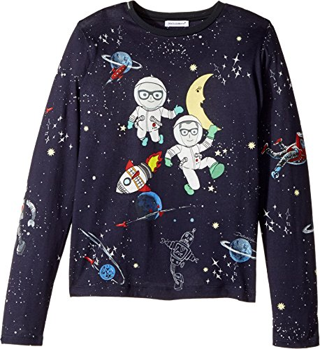 Dolce & Gabbana Kids Girl's Spaceman T-Shirt (Big Kids) Blue Print T-Shirt by Dolce & Gabbana