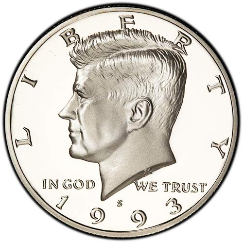 1993 S Clad Proof Kennedy Half Dollar Choice Uncirculated US Mint ()