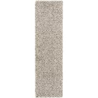 Safavieh Hudson Shag Collection SGH330A Ivory and Grey Runner (23 x 8)
