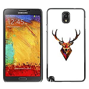 GagaDesign Phone Accessories: Hard Case Cover for Samsung Galaxy Note 3 - Minimalist Polygon Antlers Deer
