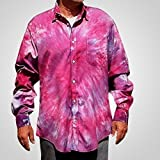 Purple Tie Dye Oxford - L
