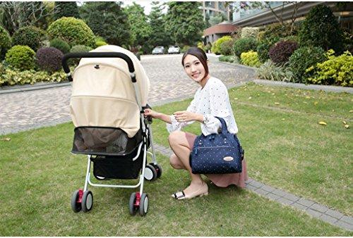 Bolsa para pañales Mochila Resistente al agua Bolsa de cambio de pañales para bebés multifuncional de gran capacidad , pink bit