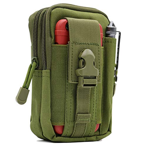 Military Ba Vertical Men Cellphone Belt Loop Holster Case Belt Waist Bag Mini Travel Pouch Crossbody Pack Purse Wallet with a Clip iPhone 8 Plus 7 Plus Note 8 S8 Edge Plus-4.72.46.9 Army Green