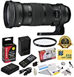 Sigma 120-300mm f/2.8 DG OS HSM Lens (137306) With 3 Year Extended Lens Warranty for the Nikon D3100 D3200 D3300 D5100 D5200 D5300 DSLR Camera Includes - Vivitar 105mm Multi-Coated UV Filter + Replacement Battery Pack for the Nikon EN-EL14 1800MAH + 1 Hou
