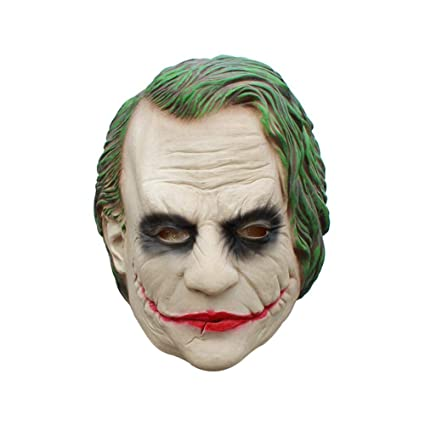 KOBWA Máscaras de látex para Halloween, película Pennywise Cosplay It Mask Dark Knight Joker máscara