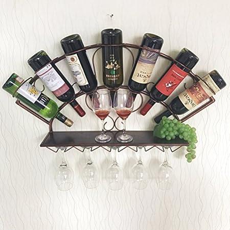 MYS C-K-P Vinoteca Decorativa Colgando Lateral De La Barra De Vino Estante del Estante De La Pared Colgando del Vino Gabinete Vinoteca Rack 83x13x40cm