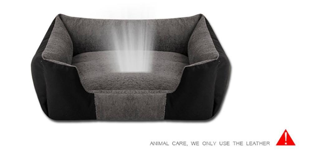 DAN Cama Lavable Premium para Perros y Gatos Un Perrito y Gatito ortopédico para Mascotas Sofá Cama con Funda Lavable extraíble
