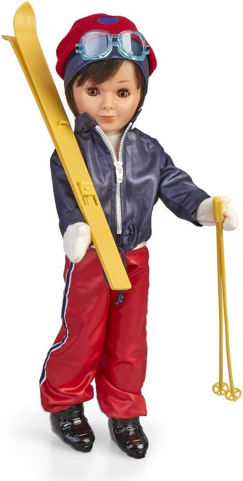 Nancy- Reedición Lucas Esquiador, muñeco con Accesorios (Famosa 700015969)