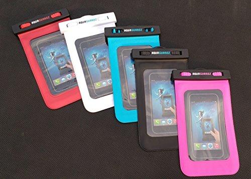 AquaGuardz, wasserdichte Handy-Hülle, entworfen und konstruiert zum Schutz Ihres Handys. Passend für iPhone 6 & 5, Samsung, HTC, Sony und andere. Jede Größe bis 15,2 cm