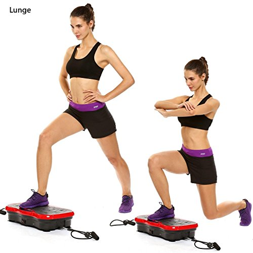 (LA Stock)Fitness Vibration Platform Whole Body Vibration Platform Machine Power Plate LCD display USB speaker