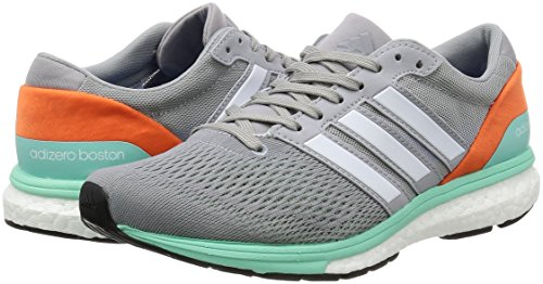 Running White 6 Gris Adizero Chaussures easy Entrainement De Boston Adidas Grey Orange mid Femme ftwr qSCXnZxwx7