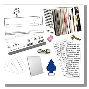 Complete Vision Board Kit: +15 fabulous supplies by VisionAmbitions. Law of Attraction. New Thought trend. Personal Transformation. Decision Making. Self-help. Bulletin Boards. Dreams. Creativity