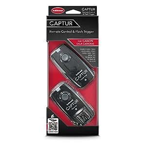 Hahnel HL -CAPTUR C Captur Remote Camera /Flash Trigger, Transmitter/Receiver for Canon, Black