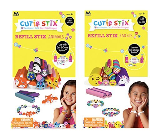 Cutie Stix Cut and Create Station Refill Packs - Animals & Emojis Sets