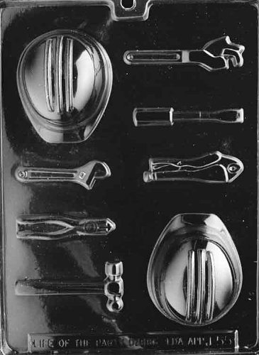 Hard Hat and Tools Chocolate Mold - J055 - Includes Melting & Chocolate Molding Instructions