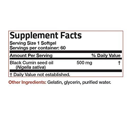 Bronson Black Cumin Seed Oil 500 mg Premium Non-GMO Cold Pressed Formula, 60 Softgels by Bronson (Image #5)