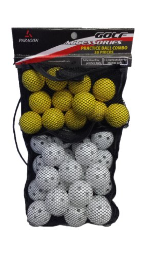 Paragon Golf Accessories Practice Ball Combo 36 Pieces