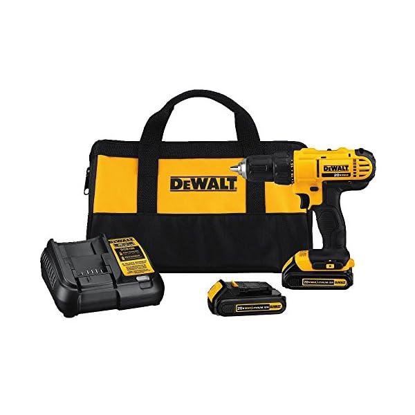 Dewalt-DCD771C2-20V-MAX-Cordless-Lithium-Ion-12-inch-Compact-Drill-Driver-Kit