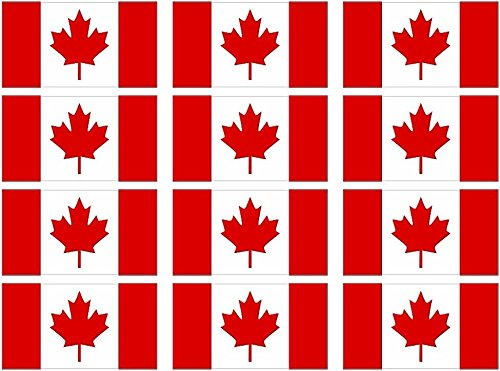 Vinyl Overlays 720 Canada Canadian Maple Leaf Flag Decal 12-2