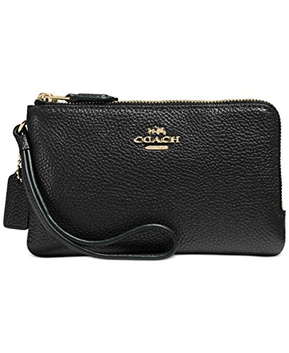 Womens Polished Pebbled Leather Double