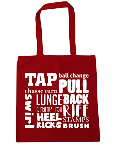 HippoWarehouse Tap meaning Tote Shopping Gym Beach Bag 42cm x38cm, 10 litres Classic Red