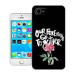 TYH - Unique Phone Case Flowers Art Our Forevers Go Together Hard Cover for iPhone 4/4s cases-buythecase ending phone case