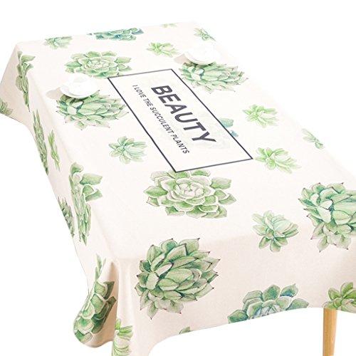 A 200140CM Nappe d'art en tissu, table à hommeger plante coton et lin petite nappe fraîche salon Rectangle thé nappe bureau nappe 85-220CM (Couleur   A, taille   200  140CM)