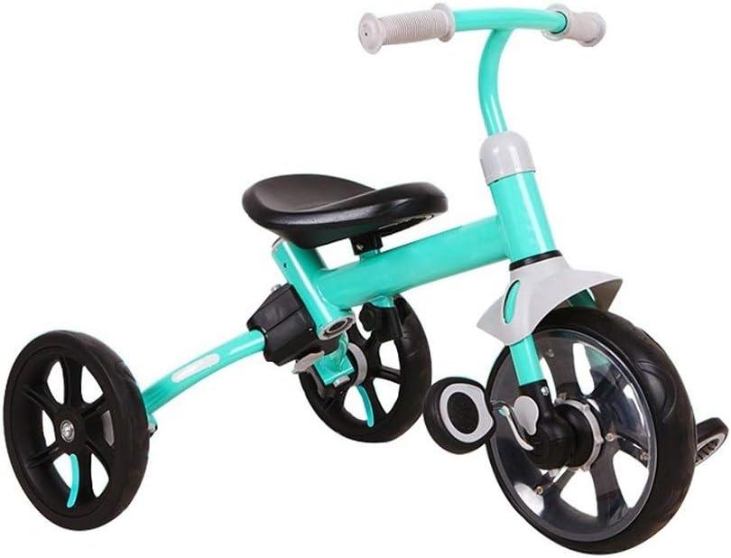 Triciclo 2-en-1 juguete del bebé de montaje caminante de los niños de los vehículos balance bebé de peso ligero en bicicleta infantil 1-3-6 años de edad, es adecuado for montar el triciclo al aire lib