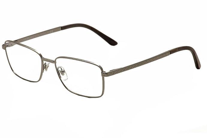 Amazon.com: Versace Eyeglasses VE1227 VE/1227 1001 Gunmetal Full Rim ...