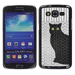 Paccase / SLIM PC / Aliminium Casa Carcasa Funda Case Cover para - Cat Polka Dot Trippy Pattern Eyes - Samsung Galaxy Grand 2 SM-G7102 SM-G7105
