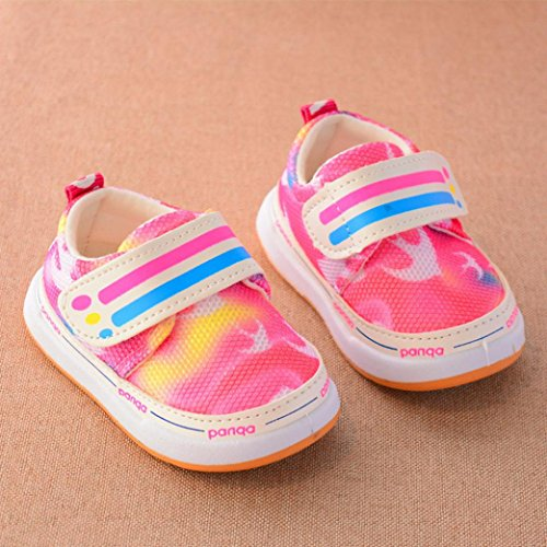 Hunpta Neugeborene Säuglings Baby Mädchen Tarnung Krippe Schuh weiche alleinige Anti-Rutsch Turnschuhe Rot
