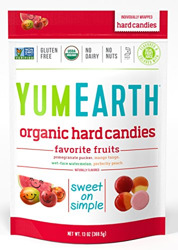YumEarth Organic Candy Drops, Freshest Fruit, 13 Ounce Bag (Pack of 4) (Packaging May Vary) -